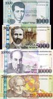 ARMENIA 1000, 5000, 10000, 20000 DRAM BANKNOTES SET 2011-2015 UNC RARE - Arménie