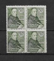 LOTE 1794  ///  (C020) ESPAÑA 1947 (1)   EDIFIL Nº: 1011 **MNH EN BLOQ. DE 4 BUEN CENTRAJE - 1931-50 Nuevos & Fijasellos