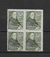 LOTE 1794  ///  (C020) ESPAÑA 1947 (2)   EDIFIL Nº: 1011 **MNH EN BLOQ. DE 4 BUEN CENTRAJE - 1931-50 Nuevos & Fijasellos