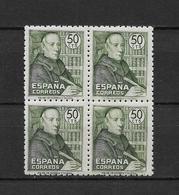 LOTE 1794  ///  (C020) ESPAÑA 1947 (3)   EDIFIL Nº: 1011 **MNH EN BLOQ. DE 4 BUEN CENTRAJE - 1931-50 Nuevos & Fijasellos