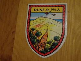 Blason écusson Adhésif Autocollant Dune Du Pyla Paysage (Gironde) - Obj. 'Souvenir De'