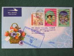 Malaysia 2017 Cover To Nicaragua - Flowers - Head Education - Scouts - Dance - Malaysia (1964-...)
