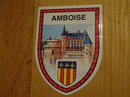 Blason écusson Adhésif Autocollant Amboise Avec Château (Indre Et Loire) - Obj. 'Souvenir De'