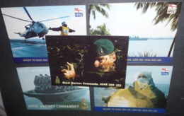 5 Cartes Postales Doubles - The Royal Navy And Royal Marines (militaires - Armée) - Publicidad