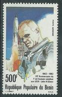 Bénin PA  N° 302 X 20è Ann Du 1er Vol Humain Satellisé Américain Trace De Charnière Sinon TB - Bénin – Dahomey (1960-...)