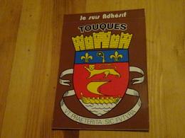 Carte Postale Blason écusson Adhésif Autocollant Touques (Normandie) - Obj. 'Souvenir De'