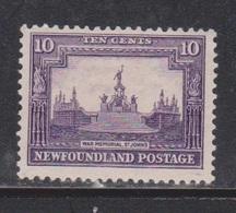 NEWFOUNDLAND Scott # 169 Mint NO GUM - National War Memorial - Newfoundland