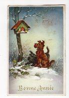 943 - BONNE ANNEE - Paysage D'hiver - Chiens - Oiseaux - New Year