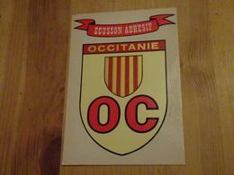 Carte Postale Blason écusson Adhésif Autocollant Occitanie - Obj. 'Souvenir De'