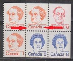 CANADA Scott # BK74 Pane MNH - Printing Error - See Scan - 1952-.... Reign Of Elizabeth II