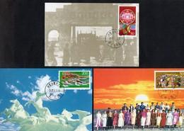 China,VR  1997  MiNr.  2797/ 2799    3 Maximumkarten   50 Jahre Autonome Region Innere Mongolei - 1949 - ... Volksrepublik