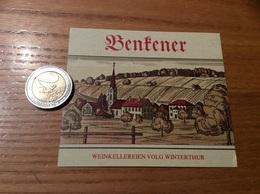 Etiquette Vin Suisse «Benfener - WEINKELLEREIEN VOLG WINTERTHUR» - Blancs