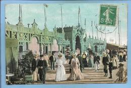 Trouville-sur-Mer (14) L'Eden-casino 2 Scans Jolies Robes Mode 1908 (adressée à M. Maugis Cafetier à Argentan (61) - Trouville