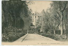 MENTON , L'Alexandra Hôtel - B/N - N/V - Menton