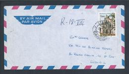 Carta De Cabinda Com Stamp Da Igreja De Jesus De Luanda. Letter From Cabinda With Stamp Of Church Of Jesus, Angola. - Angola