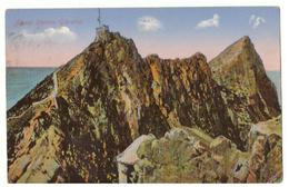Postcard. Gibraltar. Signal Station. The Rock. Stamps. Postmark. 1923. - Gibraltar