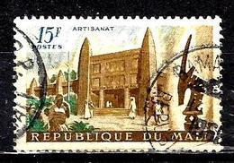 MALI 23° 15f Brun, Bleu Et Vert Artisanat, élevage Et Agriculture Maison Des Arts Du Mali (10% De La Cote + 015) - Mali (1959-...)