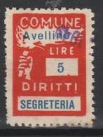 Avellino. Marca Municipale Diritti Di Segreteria L. 5. - Otros