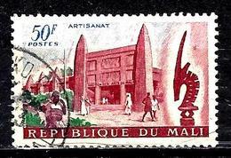MALI 28° 50f Carmin, Bleu Et Vert Artisanat, élevage Et Agriculture Maison Des Arts Du Mali (10% De La Cote + 015) - Mali (1959-...)