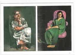 MATISSE LORETTE SUR FOND NOIR ROBE VERTE -  PICASSO - FEMME ASSISE - Peintures & Tableaux
