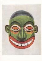 Postcard Ceylon Sri Lanka Painted Wooden Mask Worn By Devil Dancers [ British Museum ] My Ref  B23248 - Sri Lanka (Ceylon)