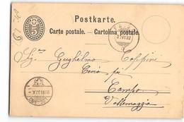 16808 01 FAIDO LOCARNO AIROLO CEVIO CAMPO - Interi Postali