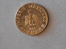 MINI OR GOLD Mexique Pesos 1865 Maximiliano - Mexique