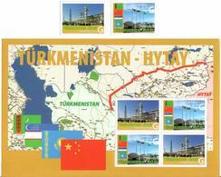 Turkmenistan.2010 Gas Main Turkmenistan-China(Flag). 2v + S/S Of 4. Michel # 277-78 + BL32 - Turkménistan