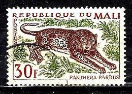 MALI 74° 30f Vert, Carmin Et Violet-brun Animaux Panthera Pardus  (10% De La Cote + 015) - Mali (1959-...)