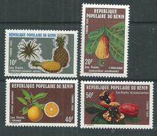 Bénin Taxe N° 47 / 50 X Fruits Du Bénin.  Les 4 Valeurs Trace De Charnière Sinon TB - Bénin – Dahomey (1960-...)