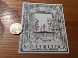 Etiquette Vin Suisse «MAIENFELDER - MARTIN KUNZ-KELLER - MAIENFELD » (livre) - Blancs