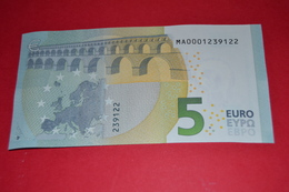 5 EURO M001 B6 PORTUGAL M001B6 - LOW Serial Number MA0001239122 - UNC FDS NEUF - EURO