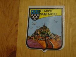Blason écusson Adhésif Autocollant Mont Saint Michel Paysage Site (Manche) - Obj. 'Souvenir De'
