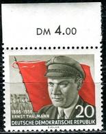 DDR - Mi 520 A Oberrand - ** Postfrisch (A) - 20Pf    Ernst Thälmann - [6] République Démocratique
