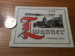 Etiquette Vin Suisse 1989 «TWANNER - F. Baumberger - Twann » - Blancs