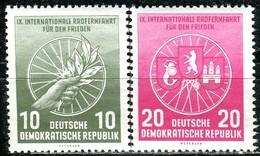 DDR - Mi 521 / 522 - ** Postfrisch (A) - 10-20Pf    Radfernfahrt 56 - [6] République Démocratique