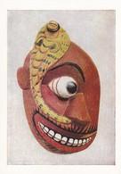 Postcard Ceylon Sri Lanka Painted Wooden Mask Worn By Devil Dancers [ British Museum ] My Ref  B23250 - Sri Lanka (Ceylon)