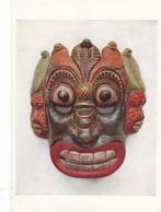 Postcard Ceylon Sri Lanka Painted Wooden Mask Worn By Devil Dancers [ British Museum ] My Ref  B23251 - Sri Lanka (Ceylon)