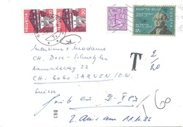 Taxierter Brief  Bruxelles -  Sarnen            1983 - Belgium