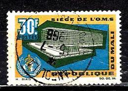 MALI 88° 30f Ocre, Vert, Bleu Et Noir Inauguration Du Siège De L'Organisation Mondiale De La Sant (10% De La Cote + 015) - Mali (1959-...)
