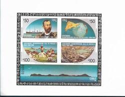 CHILE 1988 EASTERN ISLANDS ANEXATION CENTENARY, SHIPS, MAPS, FOLK DANCERS, STONE RUINS MI BL 9 SCOTT 794a - Chile
