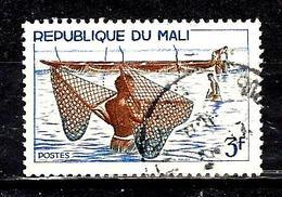 MALI 90° 3f Outremer, Gris Et Brun Pêche Au Filet (10% De La Cote + 015) - Mali (1959-...)