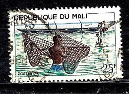 MALI 93° 25f Vert, Violet-brun Et Bleu Pêche Au Filet (10% De La Cote + 015) - Mali (1959-...)