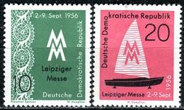 DDR - Mi 536 / 537 - ** Postfrisch (C) - 10-20Pf   Leipziger Herbstmesse 56 - [6] République Démocratique