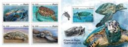 Z08 ANG18104ab ANGOLA 2018 Turtles 4v MNH ** Postfrisch - Angola