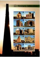 Turkmenistan.2013 Architecture. UNESCO. 3 S/S: 6v, 8v, 10v  Michel # BL36-38 (290-313) - Turkménistan