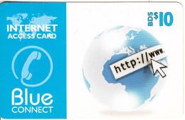 BARBADOS ISL. - Blue Connect Prepaid Card BDS$10, Used - Barbados