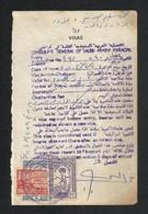 Saudi Arabia With Pakistan Old 4 Revenue Stamps On Used Passport Visas Page 1969 - Arabie Saoudite