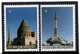 Turkmenistan.2014 Architecture Of Ashgabat. 2v: B, B  Michel # 315-16 - Turkménistan