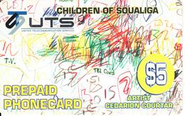 SAINT MARTIN - Children Painting/Cedarion Courtar, UTS Prepaid Card $10, Exp.date 31/12/04, Used - Antillen (Nederlands)